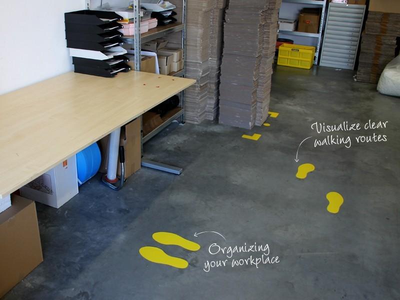 5S Floor Marking Footprints set TnP Visual Workplace