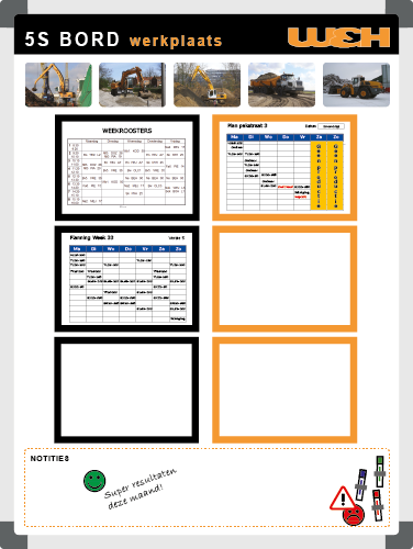 5S Board | Example 4 (90x120) - TnP Visual Workplace Steps Webshop