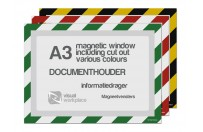Magnetic windows A3 incl. cut out (various colours)