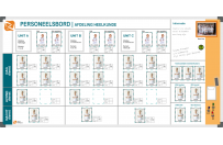 Personnel board | Example 1 (120x240cm)